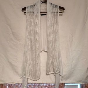 Ella moss white sweater vest